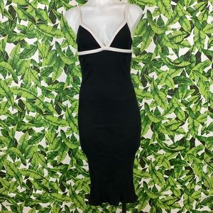 5 for $25 Zara Trafaluc Black Ribbed Midi Dress